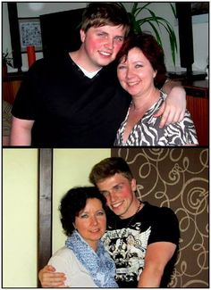 Cara Brotman - this is  mother and her son before and after one year of eating only raw foods