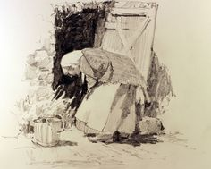Carl Purcell Art :: Gallery One Fine Art Drawing, Watercolor Drawing, Painting & Drawing, Figure Painting, Figure Drawing, Drawing Sketches, Art Drawings, Sketching, Emotional Drawings