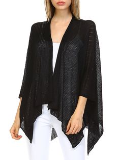 #AdoreWe StyleWe Cardigans - Oh! So Cali Clothing Crocheted Batwing H-line Knitted Resort Cardigan - AdoreWe.com