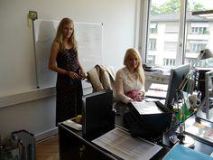 No event without our event coordination team: Fiona Gruber and Ariane Schönbächler.