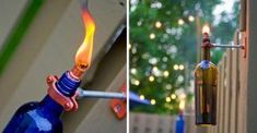 Wine Bottle Tiki Torches Easy DIY Video Instructions #recycledwinebottles