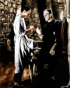 Colored promotional shot for Bride of Frankenstein (1935)