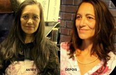 Katia Miyazaki Coiffeur - Salão de Beleza em Floripa: antes e depois - corte feminino -  cabelo longo - ...