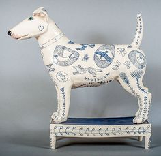 """Sid the Terrier"" by Georgina Warne (ceramic)"