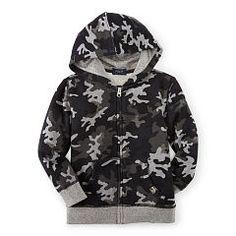 Camo Cotton Full-Zip Hoodie - Boys 2-7 Tees & Sweatshirts - RalphLauren.com