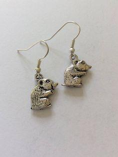 Hamster earrings / hamster jewellery / hamster gift / animal