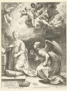 De annunciatie, Hendrick Goltzius, 1594