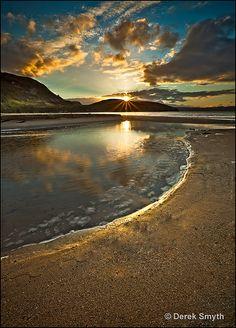 Dunree Sunset, Ireland, makes me think of Isle of Cumbrae & Arran, Scotland......