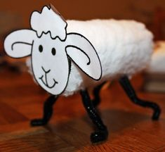 Use toilet paper roll, cotton balls, pipe cleaner and face cut-out of sheep to make a cute lamb with a preschooler.    Preschool Crafts for Kids: Christian crafts