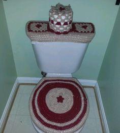 Hand knitted/crochet bath set