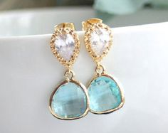 Purple Amethyst Glass Pear Violet Opal Glass Drop by Marolsha