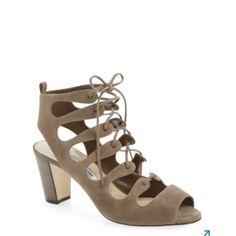 Manolo Blahnik Tuape Attal Gladiator Suede Lace-up Sandals Platforms Size US 10.5 Regular (M, B) - Tradesy