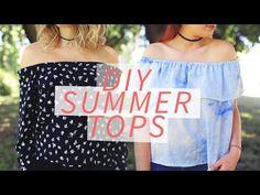 DIY OFF-THE-SHOULDER SHIRT | SUMMER DIY | THE SORRY GIRLS - YouTube