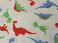 Flannel Fabric - Dinosaurs - 1 yard - 100% Cotton Flannel by SnappyBaby on Etsy https://www.etsy.com/listing/198277047/flannel-fabric-dinosaurs-1-yard-100