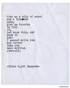 Typewriter Series #1668 by Tyler Knott Gregson
