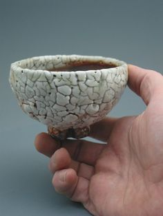 Teacup wood-fired iron rich stoneware with by GREENWOODSTUDIO