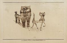 Afbeelding titel: Paul Klee - Tierfreundschaft 1923