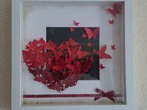 3D- Herzbild mit Rahmen Creative Things, Flag, Etsy, 3d, Handmade Gifts, Frame, Basteln, Science, Flags