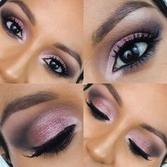 Sultry & smoky eye ft Maybelline Blushed Nudes palette #eyes #purple #eyemakeup