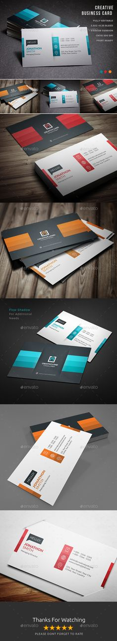 Business Card — Photoshop PSD #modern #minimalist design • Available here → https://graphicriver.net/item/business-card/15590514?ref=pxcr