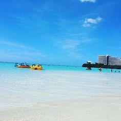 【chanchi618】さんのInstagramをピンしています。 《ここのビーチ名前忘れちゃったけど、透明で凄く綺麗だったな〜^o^💓 . #グアム #旅行 #海外旅行  #空 #海 #ビーチ #グアム旅行  #青 #水色 #透明 #綺麗  #きれい #キレイ#beach #GUAM  #guam #blue #sky #clear》