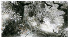 7bte Zwerge - 7th Dwarf visual development . environment design. The deep deep Forest where Tales are born. - In Memoriam HaraldSiepermann -