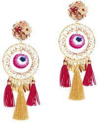 Mercedes Salazar | Tassel Fringe Circle Earrings | Lyst