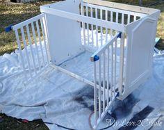 Hometalk :: Repurposed Crib Dog Crate