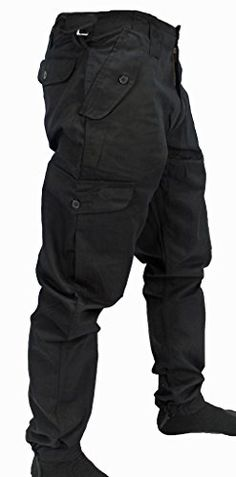 Mens Army Combat Work Trousers Pants Combats Cargo by WWK...