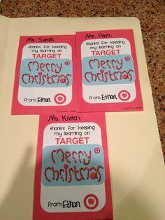 Target gift card teacher gift