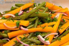 salata de fasole verde cu morcovi