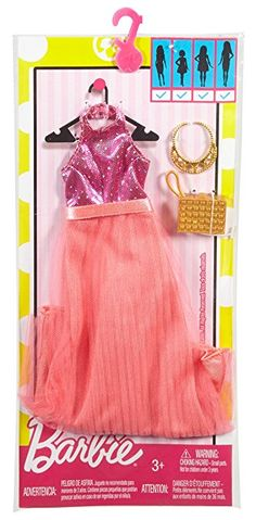 Amazon.com: Barbie Fashions Complete Look - Pink Halter Dress: Toys & Games