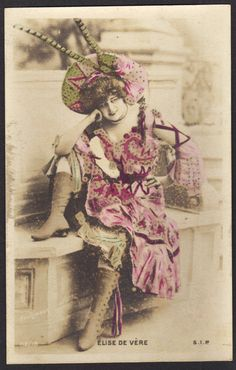 Elise de Vere Music Hall Star Early 1900s by redpoulaine on Etsy, $11.00