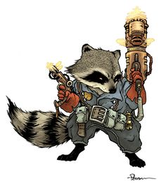 Rocket Raccoon by David Petersen