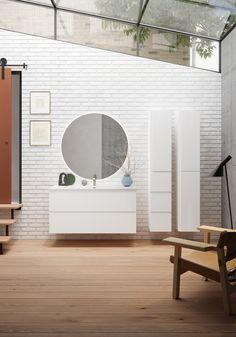 Variant baderomsmøbler fra Foss Mirror, Modern Bathrooms, Furniture, Home Decor, Bath, Modern, Decoration Home, Room Decor, Mirrors