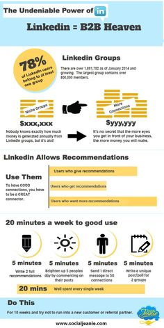 LinkedIn in 20 minutes a week #infographic