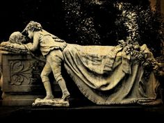 The history of this monument was told to me by my grandmother, and even from my mother. The sculptor wished to represent the moment when the son found his mother dead. Believing it was just asleep and kept calling her to touch her, hoping to wake up ...