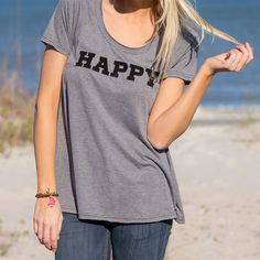 Natural Life Hangout Tee-Happy from Aries Apparel