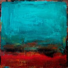 Abstract Modern Wall Art Color Field Painting By Elston