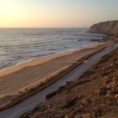 Praia azul . Blue Beach. Portugal
