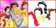 Accesorii foto (photo booth props) printesele Disney Photo Booth Props, Tinkerbell, Disney Characters, Fictional Characters, Disney Princess, Art, Art Background, Kunst, Tinker Bell