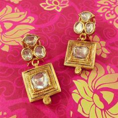 *.* Amrapali Cuff Jewelry, Jewelry Model, Diamond Jewelry, Ancient Jewelry, Antique Jewelry, Vintage Jewelry, Gold Bar Earrings, Simple Earrings, Gold Jewelry Simple