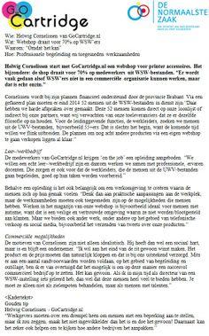 Interview over GoCartridge door De Normaalste Zaak
