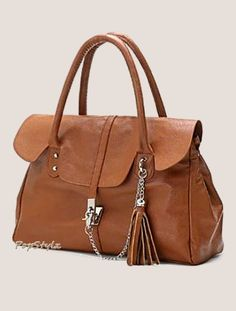 MG Collection Tassel Satchel Handbag