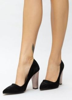 Pantofi imitatie velur ieftini toc gros Kitten Heels, Pumps, Shoes, Fashion, Neutral, Moda, Zapatos, Shoes Outlet, Fashion Styles
