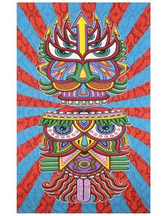 Here's a fun tapestry that would make a cool holiday gift! It's the Sunshine Joy® 3D Hungry Eyes Tapestry Beach Sheet Hanging Wall Art - Artwork by Chris Dyer - 60x90 Inches - Amazing 3-D Effects