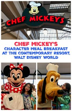 Chef Mickey's Character Meal Breakfast at Disney World