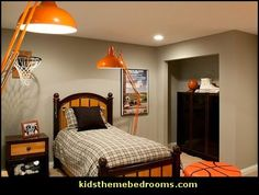 basketball theme bedrooms all sports theme bedroom decorating ideas - Sports Bedroom Decorating Ideas