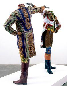 Gentleman's Coats done in African Dutch Wax Fabric!