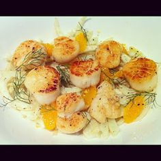Faboosh Rouge: Warm Fennel & Orange Salad with Seared Scallops